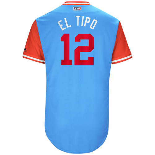 "Photo of Rougned ""El Tipo"" Odor Texas Rangers Game-Used Players Weekend Jersey"