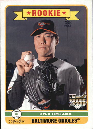 Photo of 2009 O-Pee-Chee #593 Koji Uehara Rookie Card Cubs post-season