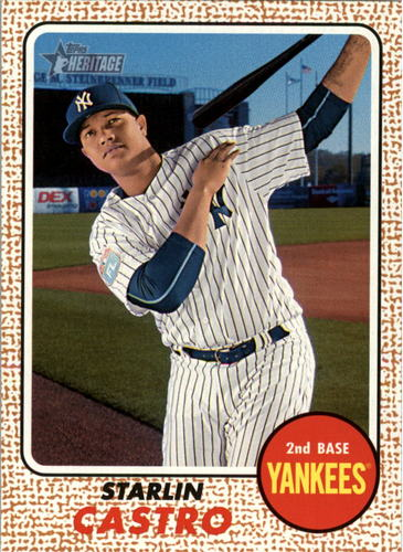 Photo of 2017 Topps Heritage #87 Starlin Castro -- Yankees post-season