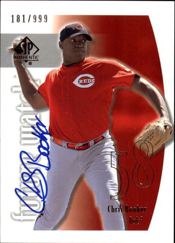 Photo of 2002 SP Authentic #163 Chris Booker AU RC