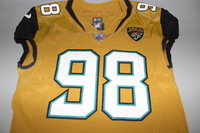 JAGUARS - CHRIS SMITH GAME WORN JAGUARS COLOR RUSH JERSEY (OCTOBER 27 2016)