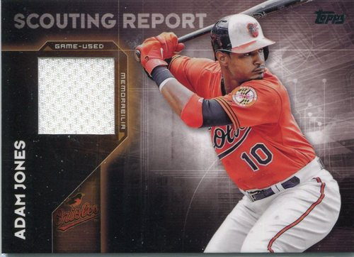 Photo of 2016 Topps Scouting Report Relics #SRRAJ Adam Jones S2