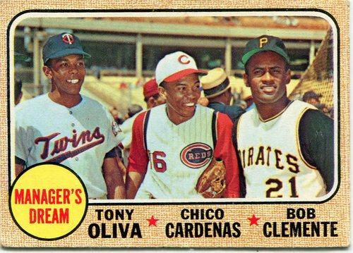 Photo of 1968 Topps #480 Manager's Dream/Tony Oliva/Chico Cardenas/Bob Clemente