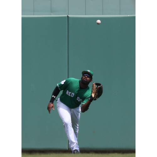 Photo of Red Sox Foundation St. Patrick's Day Jersey Auction - Jackie Bradley Jr. Game-Used & Autographed Jersey