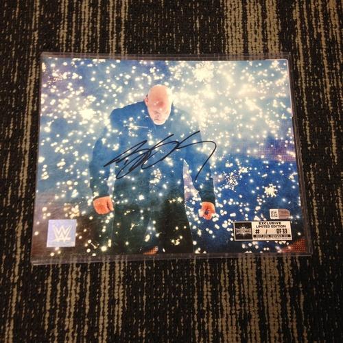 Photo of Goldberg SIGNED 8 x 10 Limited Edition WrestleMania 33 Photo (#1 of 33)