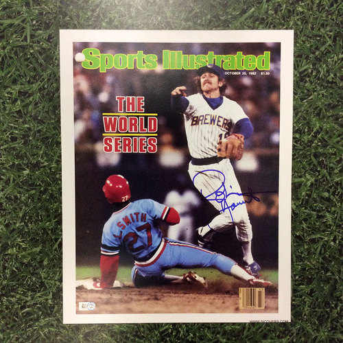 Photo of Robin Yount Autographed Replica Sports Illustrated Cover