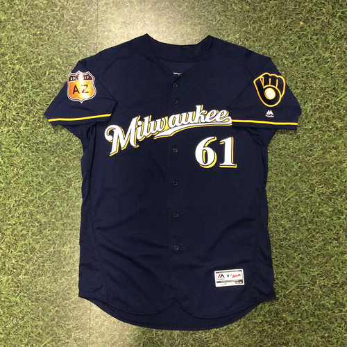 Photo of Aaron Wilkerson 2017 Game-Used Spring Training Jersey