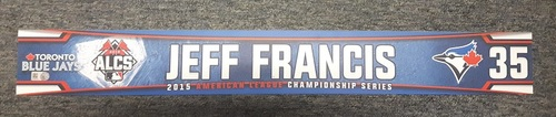 Photo of Authenticated Team Issued Locker Name Plate - #35 Jeff Francis