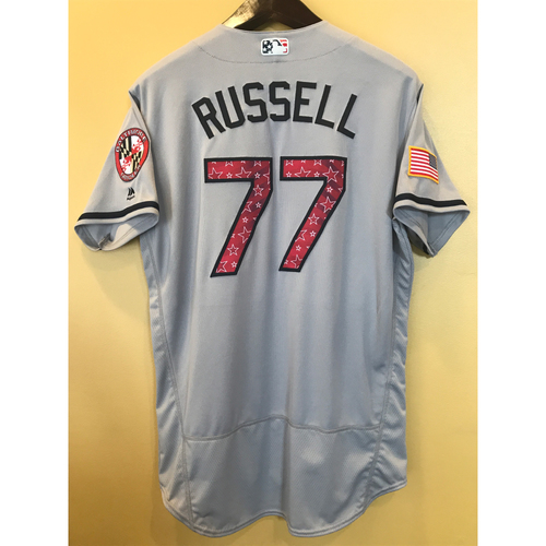 Photo of John Russell - 2017 4th of July Road Jersey: Game-Used