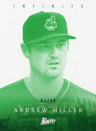 Photo of 2017 Topps Bunt Infinite Green #IAMI Andrew Miller -- Indians post-season