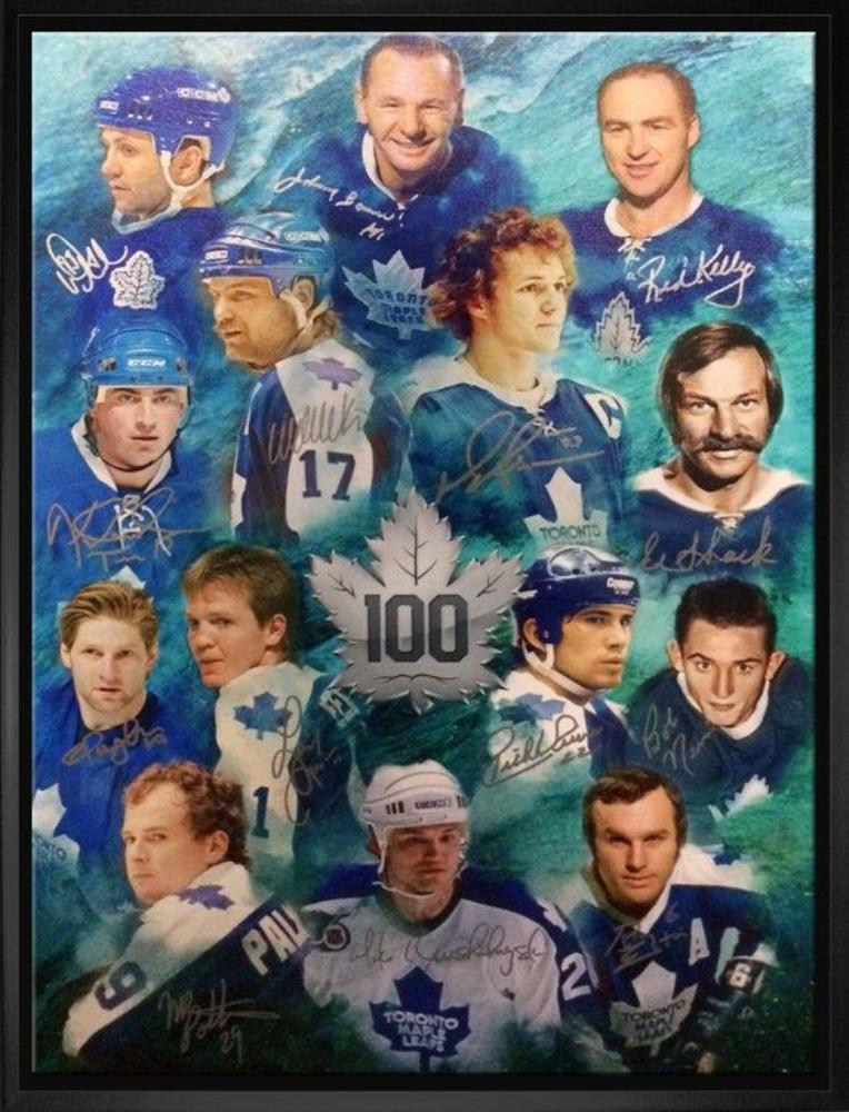 Toronto Maple Leafs - Multi-Signed & Framed 20x29