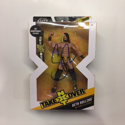 Photo of Seth Rollins SIGNED NXT Elite Series Action Figure