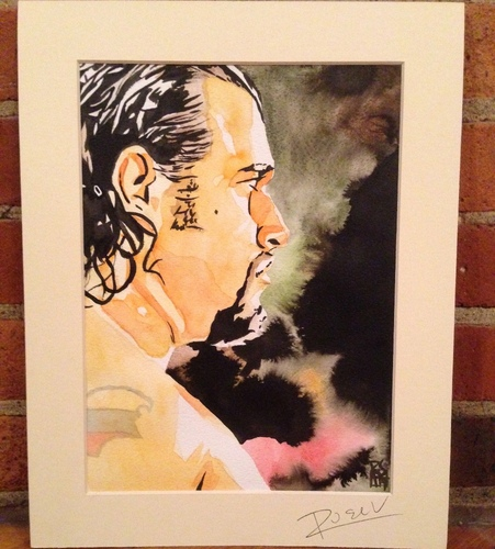 Rusev Signed Painting by Rob Schamberger