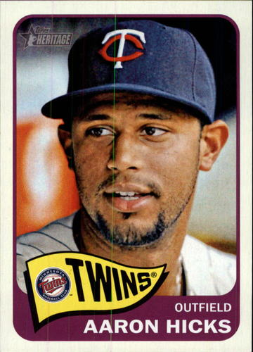 Photo of 2014 Topps Heritage #419 Aaron Hicks