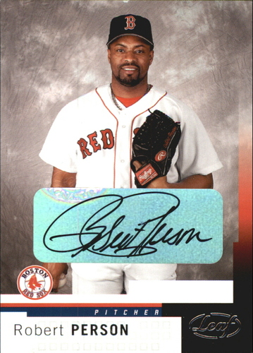 Photo of 2004 Leaf Autographs #14 Robert Person