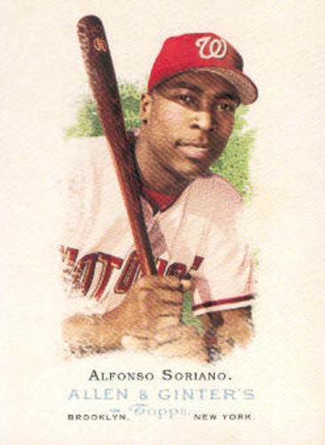 Photo of 2006 Topps Allen and Ginter #101 Alfonso Soriano