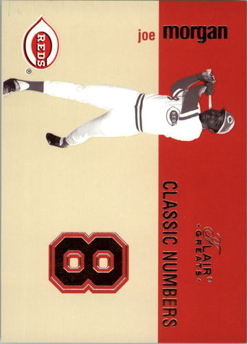 Photo of 2003 Flair Greats Classic Numbers #11 Joe Morgan