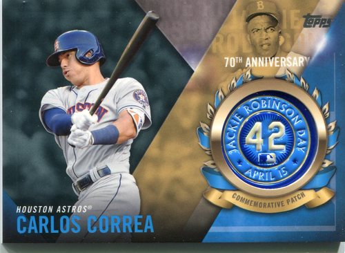Photo of 2017 Topps Jackie Robinson Logo Patches #JRPCCC Carlos Correa