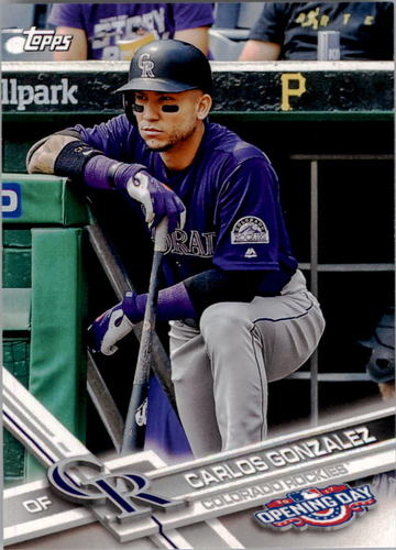 Photo of 2017 Topps Opening Day #115 Carlos Gonzalez