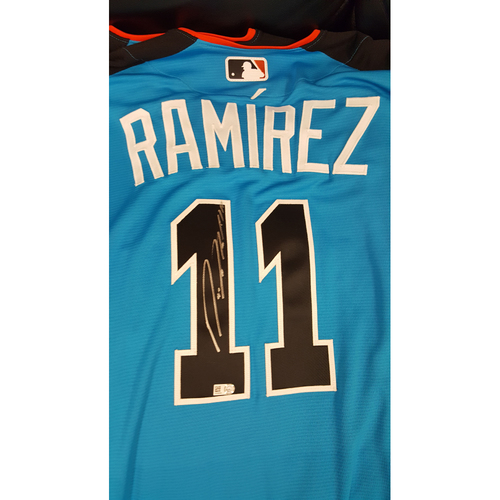 Photo of Jose Ramirez 2017 Major League Baseball Workout Day/Home Run Derby Autographed Jersey