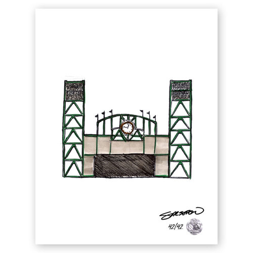 Photo of AT&T Park Sketch - Limited Edition Print 42/42 by S. Preston