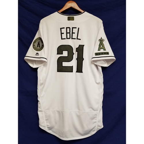Photo of Dino Ebel 2017 Game-Used Home Memorial Day Jersey