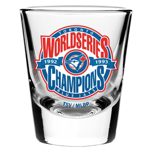 Toronto Blue Jays Back 2 Back World Series Champion Shot Glass by The Sports Vault Corp.