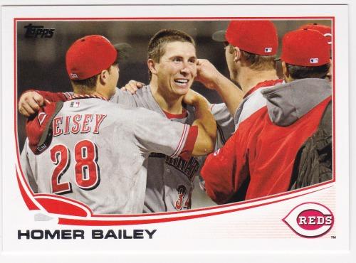 Photo of 2013 Topps #585 Homer Bailey