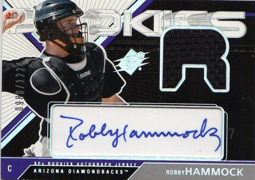 Photo of 2003 SPx #174 Rob Hammock AU JSY RC