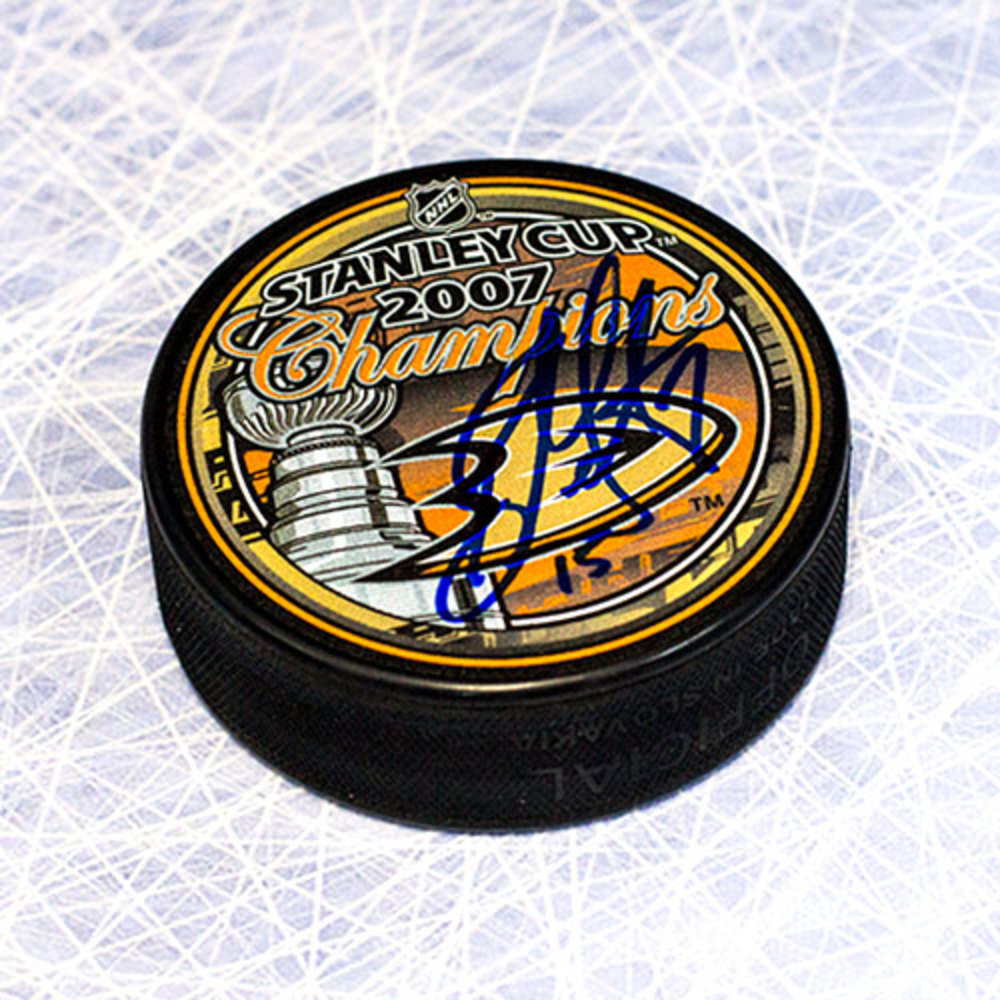 Ryan Getzlaf Anaheim Ducks Autographed 2007 Stanley Cup Puck