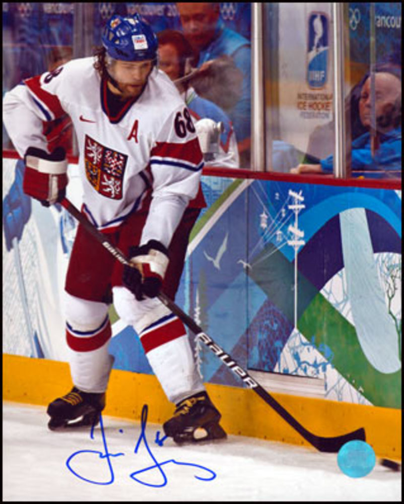 JAROMIR JAGR 2010 Winter Olympic Game SIGNED Team Czech Republic 8x10 Photo
