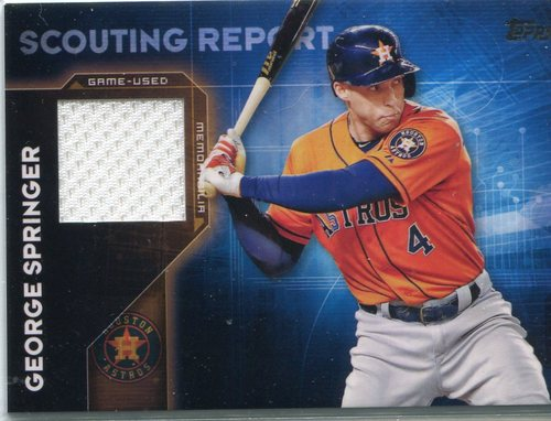 Photo of 2016 Topps Scouting Report Relics #SRRGSP George Springer S2