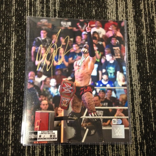 Photo of Finn Bálor SIGNED 8 x 10 Limited Edition WrestleMania 33 Photo (#1 of 33) (w/ Title)