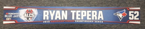 Photo of Authenticated Game Used Locker Name Plate - #52 Ryan Tepera (2015 ALCS)