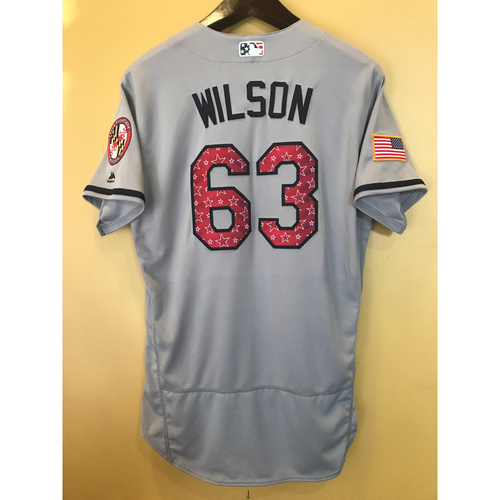 Photo of Tyler Wilson - 2017 4th of July Road Jersey: Game-Used