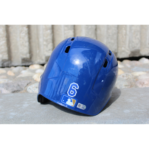 Photo of Game-Used Helmet: Lorenzo Cain (Size 7 1/8 - ARI at KC - 10/1/17)