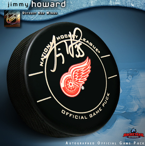 JIMMY HOWARD Signed OFFICIAL Game Puck - Detroit Red Wings