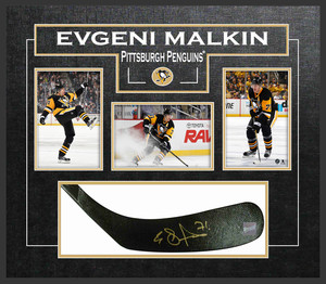 Evegeni Malkin - Signed & Framed Stick Blade - Featuring Pittsburgh Penguins Photo Collection