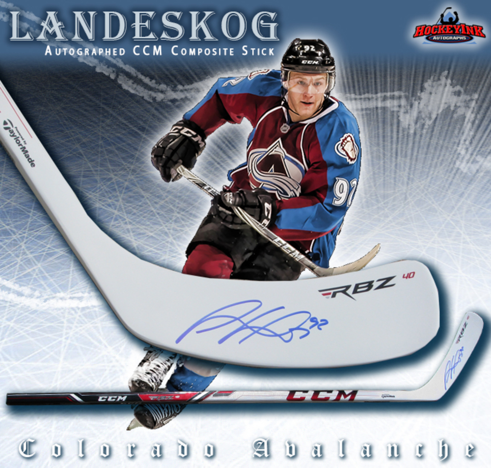 GABRIEL LANDESKOG Signed CCM Composite Stick - Colorado Avalanche