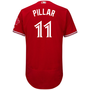 Authentic Collection Kevin Pillar Flex Base Alternate Red Jersey by Majestic