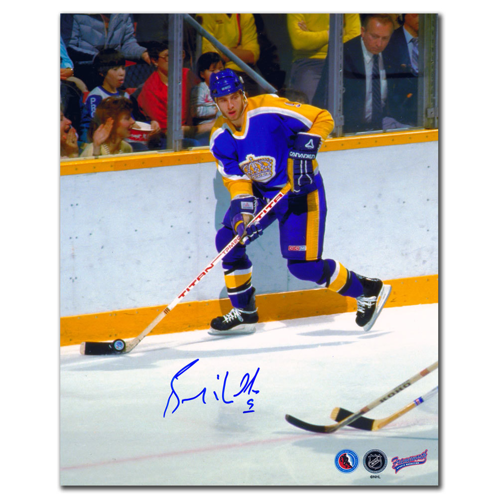 Bernie Nicholls Los Angeles Kings Autographed 8x10