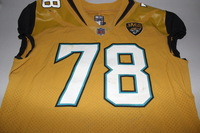 JAGUARS - JERMEY PARNELL GAME WORN JAGUARS COLOR RUSH JERSEY (OCTOBER 27 2016)