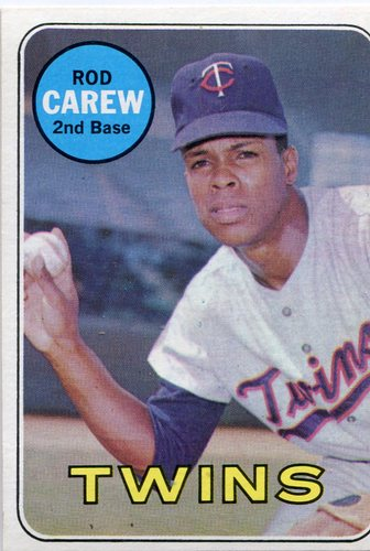 Photo of 1969 Topps #510 Rod Carew -- Twins Hall of Famer