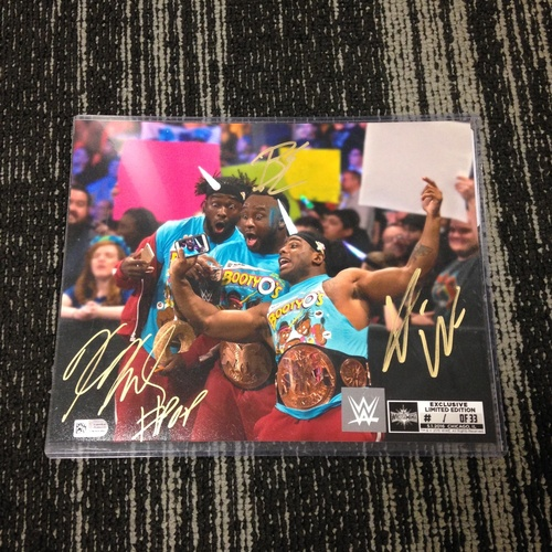 Photo of The New Day SIGNED 8 x 10 Limited Edition WrestleMania 33 Photo (#1 of 33)