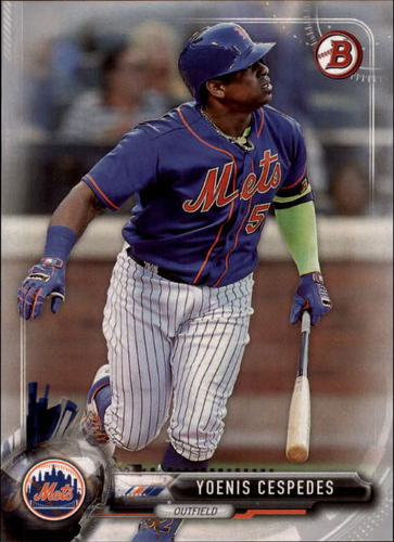 Photo of 2017 Bowman Silver #17 Yoenis Cespedes /499