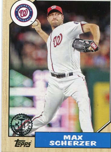 Photo of 2017 Topps '87 Topps #8744 Max Scherzer