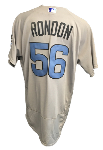 Photo of Hector Rondon Game-Used Father's Day Jersey -- Cubs vs Pirates -- 6/17/17