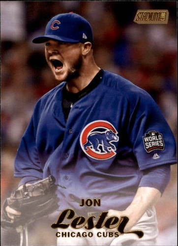 Photo of 2017 Stadium Club Gold Foil #120 Jon Lester