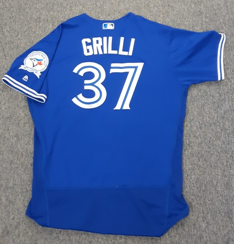 Photo of Authenticated Game Used Jersey - #37 Jason Grilli (June 8, 2016)