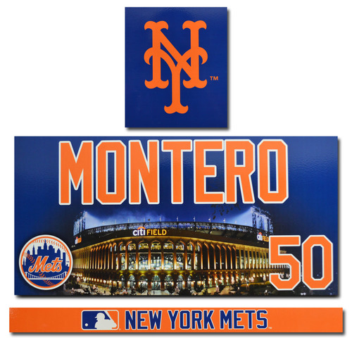 Photo of Rafael Montero #50 - Citi Field Locker Nameplate Set - 2017 Season